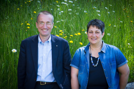 Bild: Timo Züst Thurvita AG CEO Alard du Bois-Reymond mit Pflegeexpertin Undine de Cambio