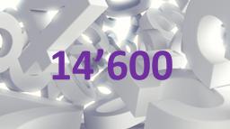 Zahl der Woche - 14'600